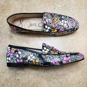 Sam Edelman Loraine Floral Snake Loafer Shoes 9.5